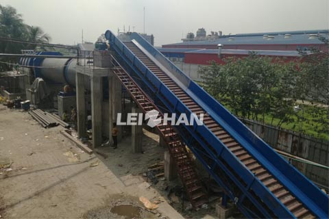 chain conveyor for carrying waste paper